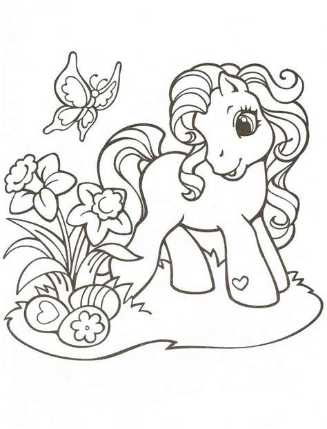 colorear ponis 43 dibujo colorear