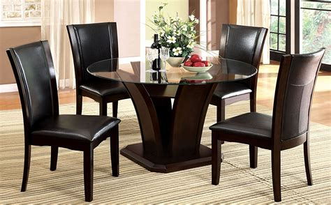 cherry dining room set manhattan i dark cherry round pedestal dining room set