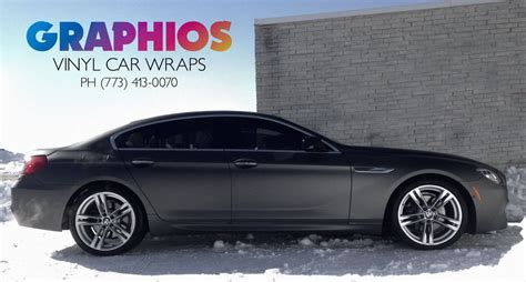 Chicago Black Matte Car Wrap, Vehicle Graphics   GRAPHIOS