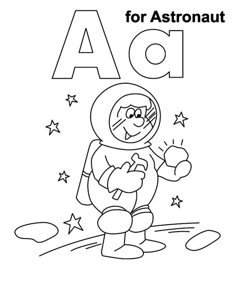 free coloring pages of astronauts
