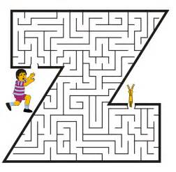 small letter z coloring pages maze coloring pages