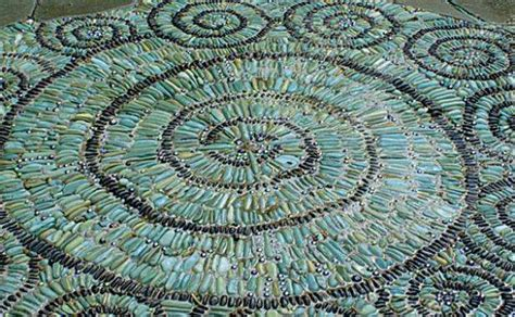 see how pebble tile mosaics create a modern must see outdoor landscape mosaic ideas mozaico