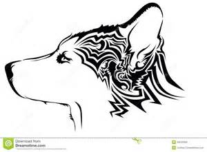 tribal wolf tattoo stock vector image 39243384