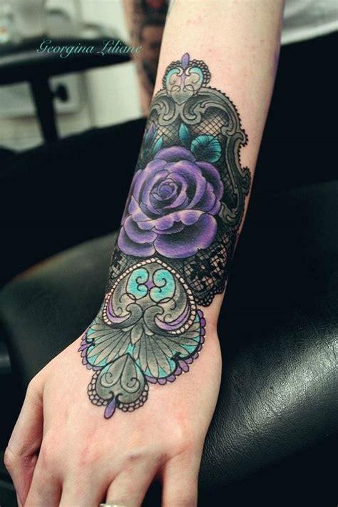 purple rose tattoo paola ks 37 mod 232 le de tatouage femme dentelle 224 d 233 couvrir