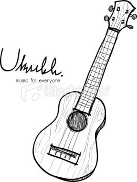 tattoo ukulele chords ukulele sketch royalty free stock vector art illustration