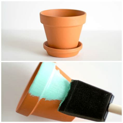 spray painting terracotta pots echopaul official diy gold dipped plant pots