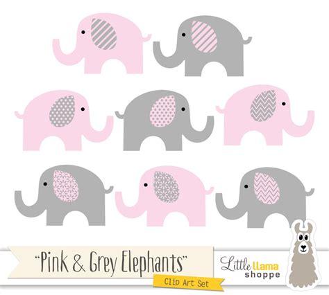 Gray Elephant Nursery Decor Pink And Grey Elephants Clipart Pink Amp Gray Nursery