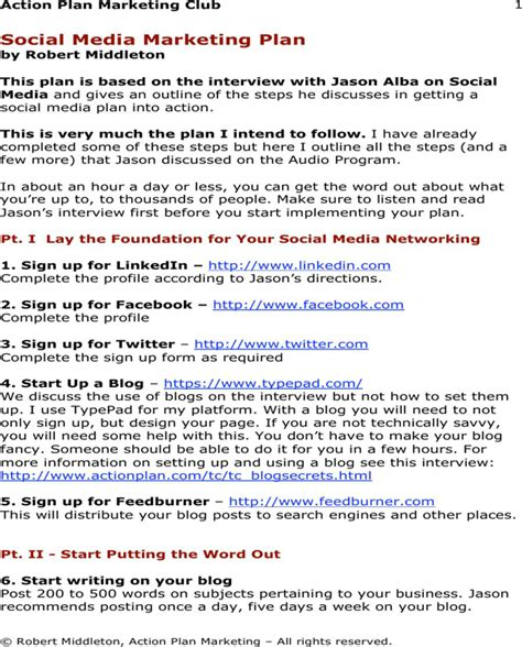 download social media marketing plan template for free
