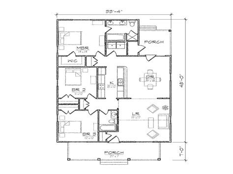 Open Floor Plan Bungalow | small bungalow floor plans open floor plans bungalow