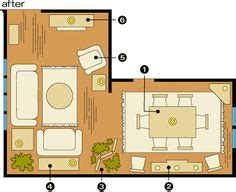 shaped livingdining room   challenge   finally find   house  shaped