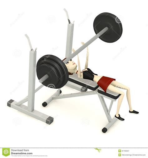 cartoon bench press cartoon girl with benchpress royalty free stock