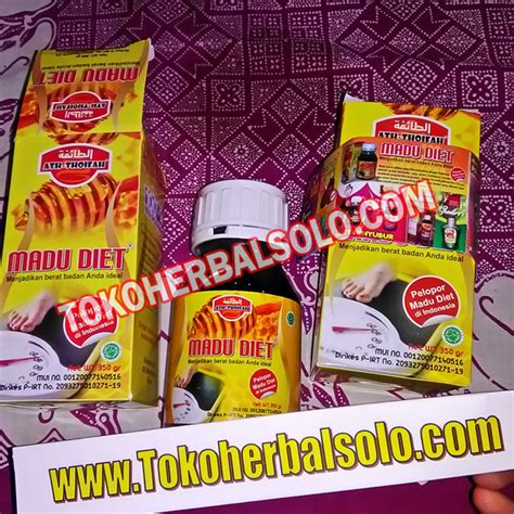 Madu Diet Pelangsing Tercepat Aman 100 Herbal Alami Langsing Slim madu diet herbal at thoifah toko herbal
