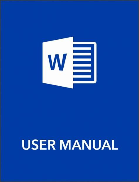 6 User Manual Template Sletemplatess Sletemplatess Manual Template Microsoft Word