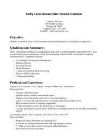 Entry Level Accounting Resume Sle by Entry Level It Resume Resume Format Pdf