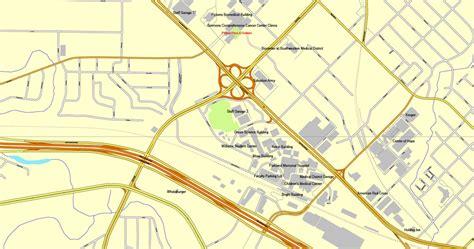 dallas texas us map vector map dallas tx us cityplan 3mx3m ai pdf 4