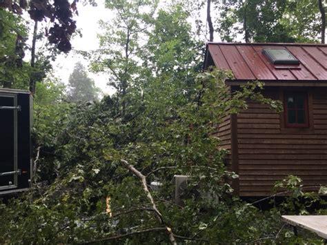 tree falls on house tree falling on a tiny house the tiny life