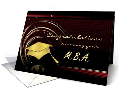 Mba Graduation Gift Ideas by Graduation Master S Degree Mba Card 412290