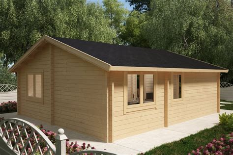 2 bedroom cabins two bedroom log cabin summer house ireland 43m2 70mm 6