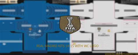 Diskon Patch Fifa Wcc Real Madrid 2014 Pes 15 Real Madrid 14 15 Kits With Wc Logo Pes Patch