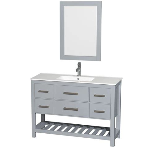 bathroom vanity 48 x 18 wyndham collection natalie 48 in w x 18 5 in d vanity in