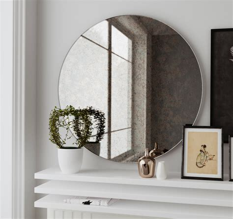where to hang mirrors antique round mirror hanging wall mirror made with custom