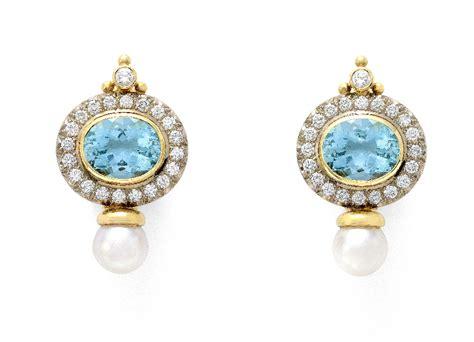 Elisabeth Earring aquamarine and valois earrings elizabeth gage