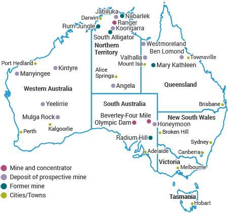 Which Country S Granite Has Less Radon - australia s uranium uranium mining in australia world