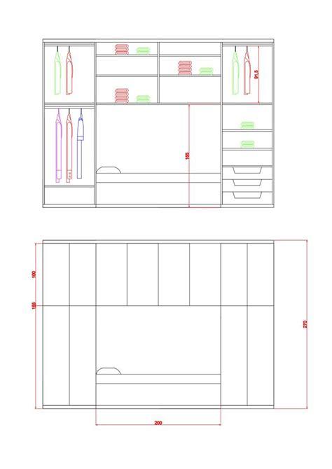 armadi misure armadio progettato su misura con cassetti e appese