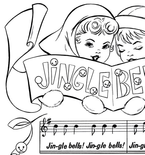 holiday music coloring pages jingle bells sheet music graphicsfairy thumb the