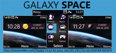 galaxy themes for nokia c3 galaxy space live theme for nokia c3 00 x2 01 asha 200