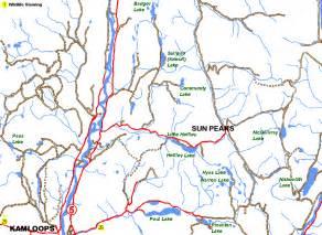 sun peaks canada map sun peaks ski resort kamloops area columbia canada
