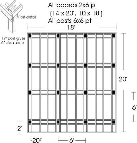 Free Wood Deck Plans Wood Deck Plan Basic Plan Deck Building Plans For A Deck