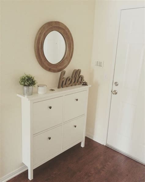 leisure living entryway cabinet our small entryway ikea hemnes shoe cabinet making a