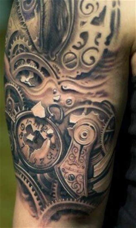 arm tattoo gears 22 clock gear tattoos ideas