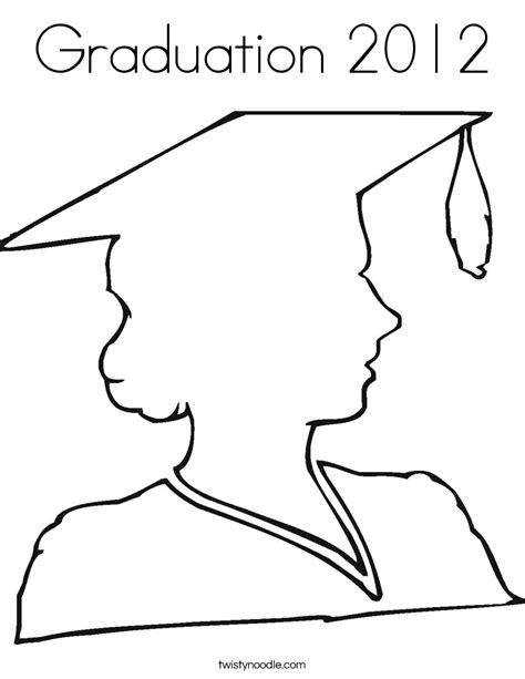 graduation girl coloring page graduation 2012 coloring page twisty noodle