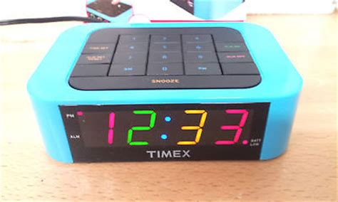 timex simplset multi colored display alarm clock what s it worth