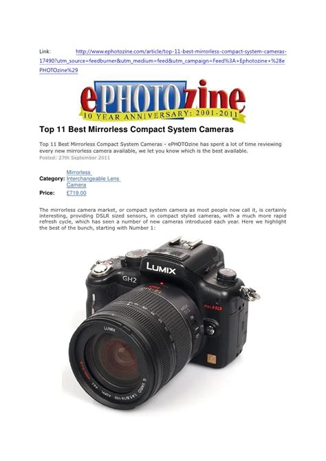 best compact system top 11 best mirrorless compact system cameras ephotozine