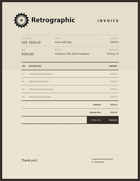 invoice design inspiration 35 striking invoice designs web graphic design bashooka