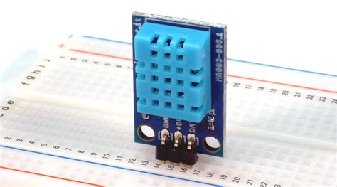 Dht11 Sensor Temperature And Humidity With Breadboard dht11 humidity and temperature digital sensor