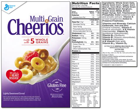 whole grains in cheerios whole grain cheerios nutrition nutrition ftempo