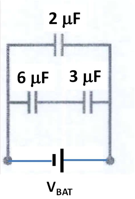 what is the capacitance of the capacitor mastering physics in the circuit below vbat 10 v 1 what is the eq chegg