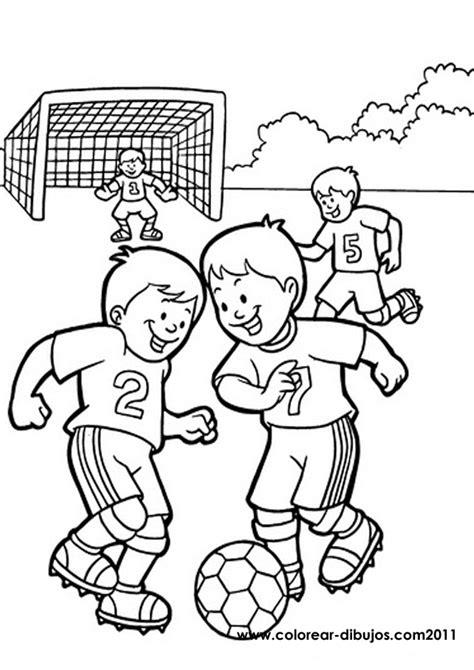 dibujos niños jugando futbol para colorear mis deportes febrero 2015