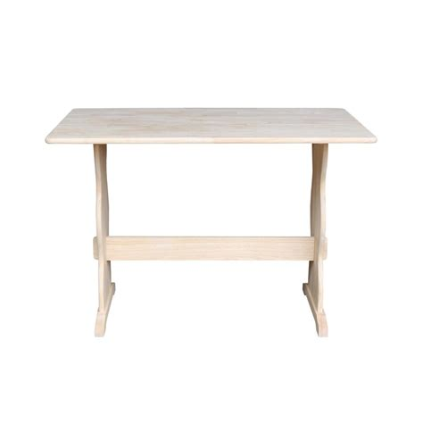 home depot trestle table international concepts unfinished trestle dining table t