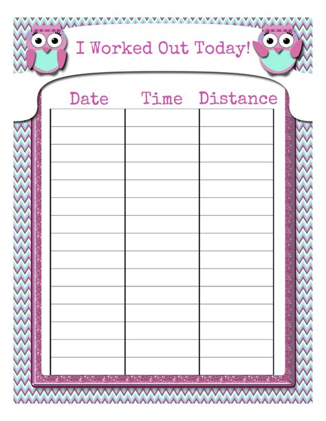 workout tracking sheet my fashionable designs free printable workout tracking sheet