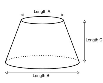 flat pattern cone shape online calculator for making a flat cone for instance