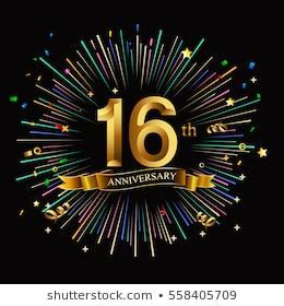 16th Anniversary Images, Stock Photos & Vectors   Shutterstock