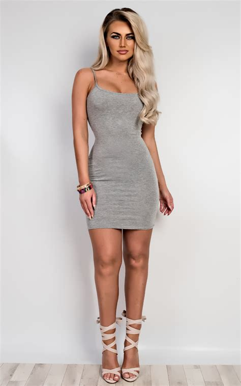 Fvr Basic Mini Dress emily basic mini dress in grey ikrush