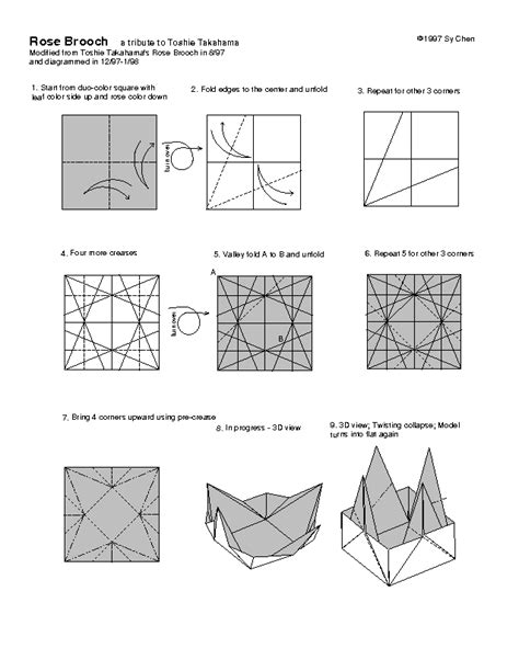 Origami Flowers Pdf Free - free printable cards free printable origami