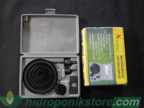 Paket Holesaw Kit Saw Set Hidroponik Nankai 16 Pcs Vitatool 13pcs saw kits hidroponik 16 pcs hidroponikstore