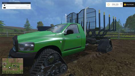 cummins pickup bed log truck for fs15 farming simulator dodge log truck tracked for fs15 farming simulator 2015